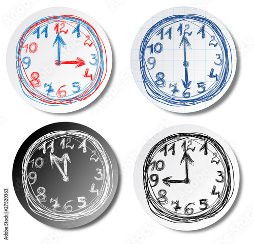 Clock stickers