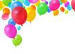 Leinwanddruck Bild - Colorful balloons
