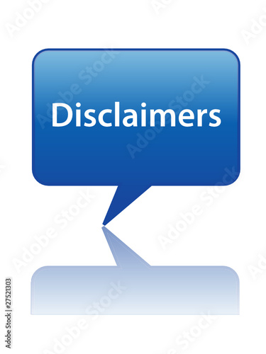 DISCLAIMERS Speech Bubble Icon (legal terms & conditions button)