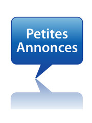 """Icône Bulle """"PETITES ANNONCES"""" (vente achat en ligne bouton web)"""