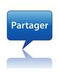 Icône Bulle PARTAGER (internet communauté réseau social forum)