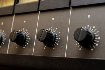 Black volume knobs