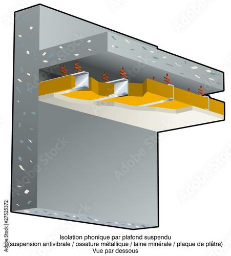 quot bruit l isolation phonique plafond suspendu b quot photo libre de droits sur la banque d images