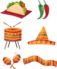 Set of mexican