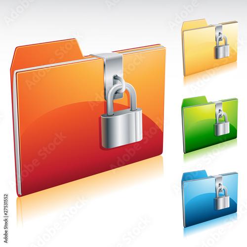 Ikona blokady folderu