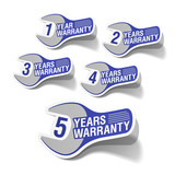 Warranty labels poster