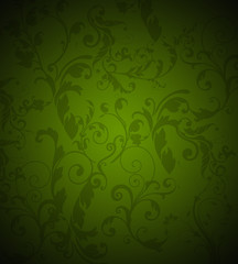 Vintage floral background green