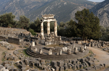 Athena Pronoia sanctuary, Delphi, Greece