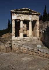 The treasury of the Athenians, Delphi, Greece