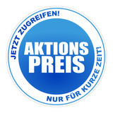 Button - Aktion Aktionspreis Angebot Blau