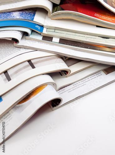 Poster detalle de revistas y libros