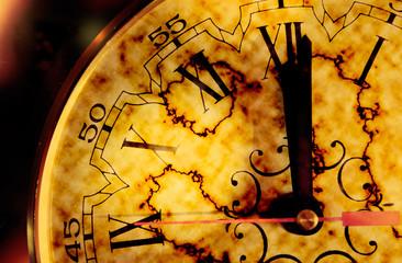 concepto de tiempo con viejo reloj