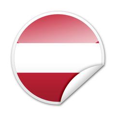 Pegatina bandera Austria con reborde