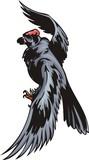 Kite with black plumage. Predatory birds. poster