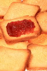 biscottes et confiture