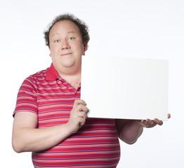 homme bien portant signalant perte de poids