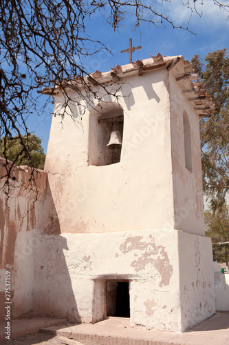 Foto op Canvas Bedehuis Old adobe church in the countryside of Argentina.