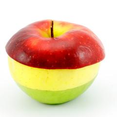 Apple three-coloured.