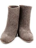 Pair gray woolly lock footwear poster