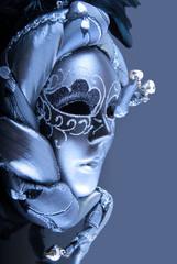 Carnaval - Masque vénitien bleuté