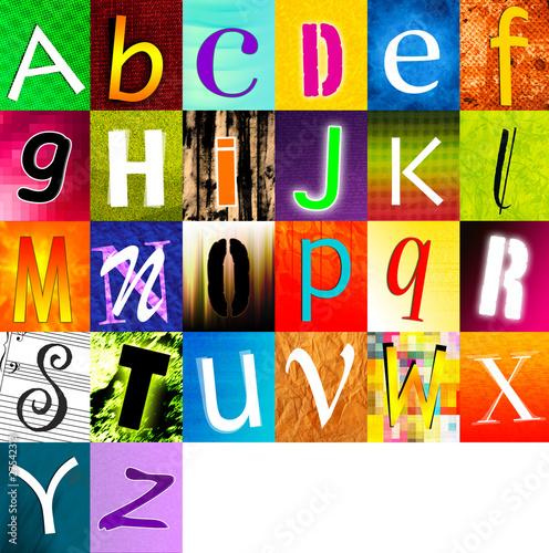 alphabet multicolore 3