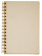 Generic cardboard cover of spiral notebook