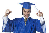 homme réussissant son diplome MBA poster