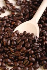 caffè e cucchiaio due