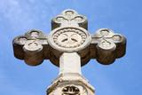 Stone cross at Montjuic cemetery, Barcelona, Spain poster