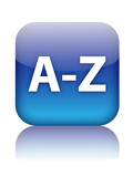 A-Z Web Button (dictionary index directory icon find search go) poster