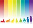 baby silhouette regenbogen hintergrund