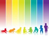 Fototapety baby silhouette regenbogen hintergrund