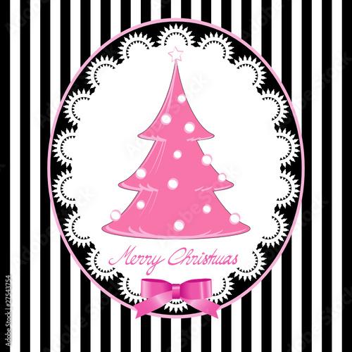 Weihnachtsbaum altrosa