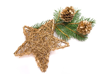 christmas decoration with a golden star