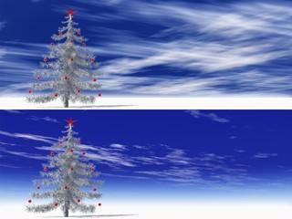 High resolution 3D Christmas tree
