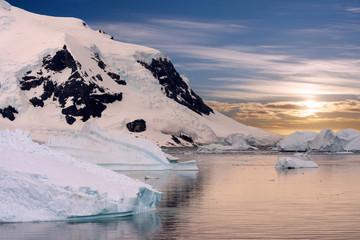 Abendstimmung im Eis - Sunset in the ice