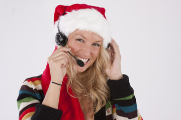 Santa Call desk Woman