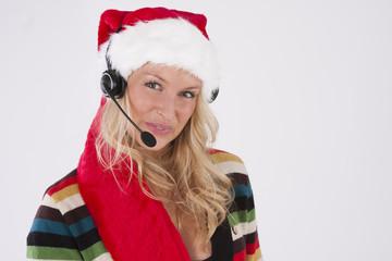 Santa Call desk Woman