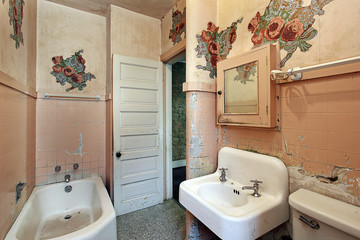 Bathroom in old abandoned home