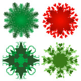 Holiday greenery patterns poster
