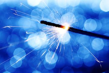 sparkler on bokeh background