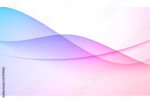 Blue and Pink wave abstract background