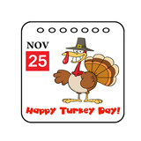 Thanksgiving Holiday Event Cartoon Calendar Vector poster