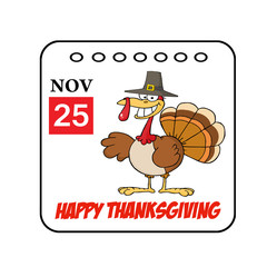 Thanksgiving Holiday Event Cartoon Calendar