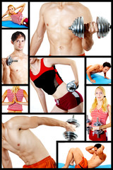 Collage. Fitness centre