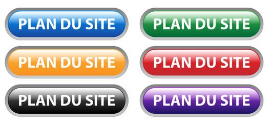 Série de Boutons PLAN DU SITE (page d'accueil internet web info)