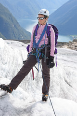 Glacier et fjord
