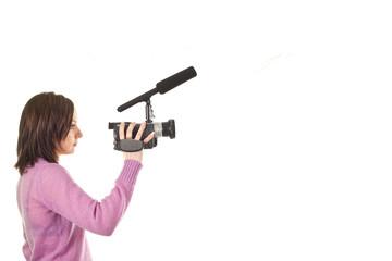 ragazza con videocamera