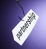 partnership mot partenariat accroché à hameçon crochet poster