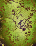 Fototapety Green decorative floral background